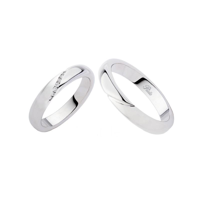 White gold 18k 750/1000 with diamonds Polello wedding rings G2145DB-UB