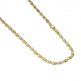 Gold 18k 750/1000 riportini chain shiny man necklace