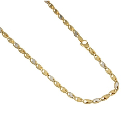 Gold 18k 750/1000 riportini type length 17.70 inch man chain