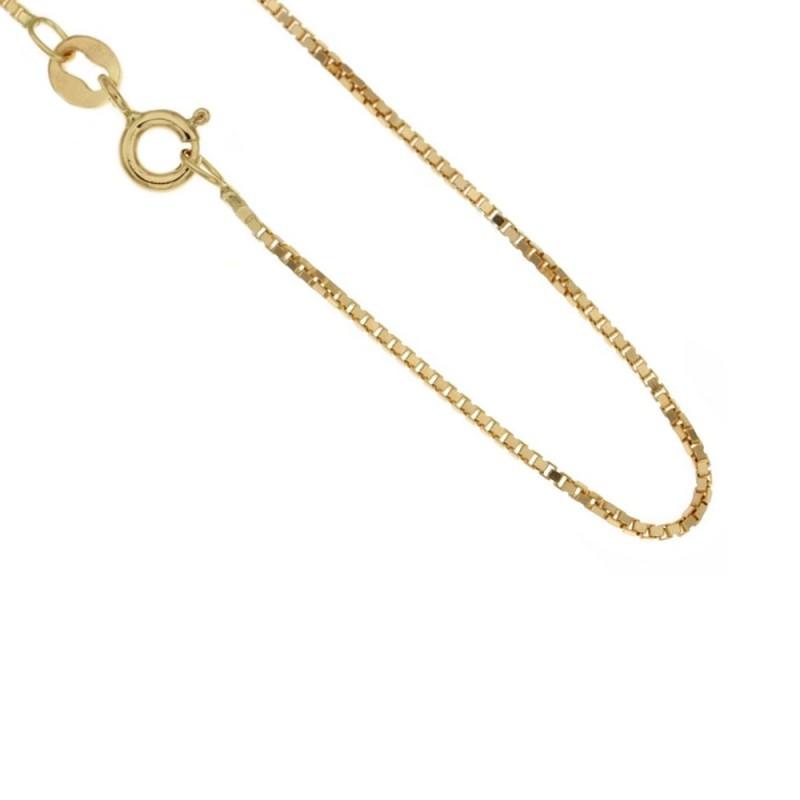 Catena in oro 18 Kt 750/1000 modello veneziana unisex