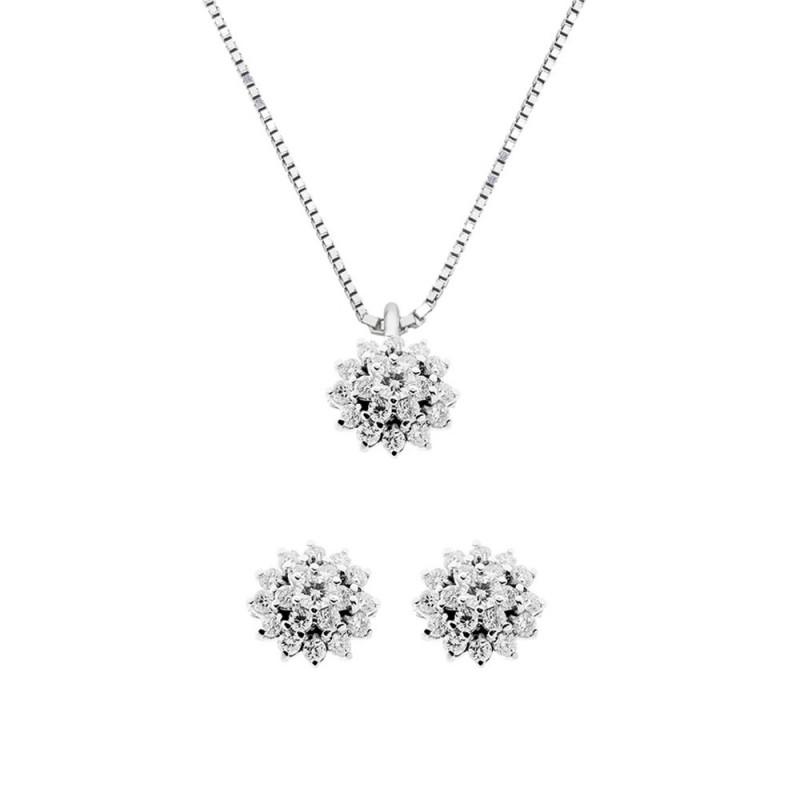 White gold 18k 750/1000 with diamonds Grama&Mounier woman set