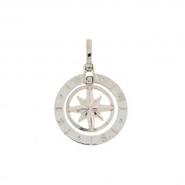 White gold 18k 750/1000 compass rose pendant