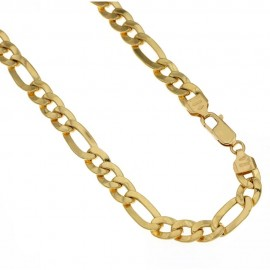 Yellow gold 18k 750/1000 3+1type shiny man chain