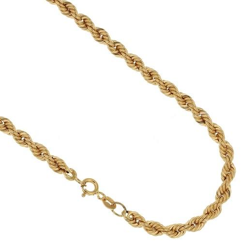 Collana in oro giallo 18 Kt 750/1000 a maglia intrecciata spessore 5 mm