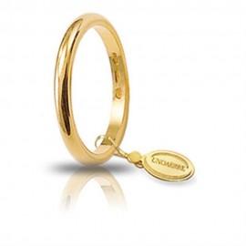 Fede Unoaerre in oro modello classico da 3 gr stretta lucida 30AFN4 larghezza fascia 2,30 mm unisex