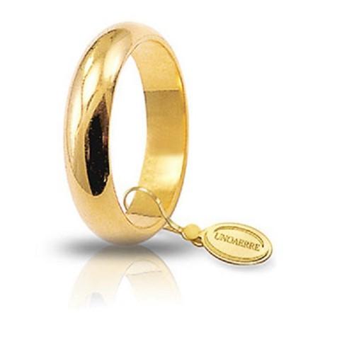 Fede Unoaerre in oro modello classico da 7 gr lucida 70AFN1 larghezza fascia 4,50 mm unisex