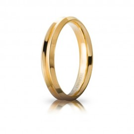 Yellow gold 18 Kt 750/1000 unoaerre corona model shiny wedding ring