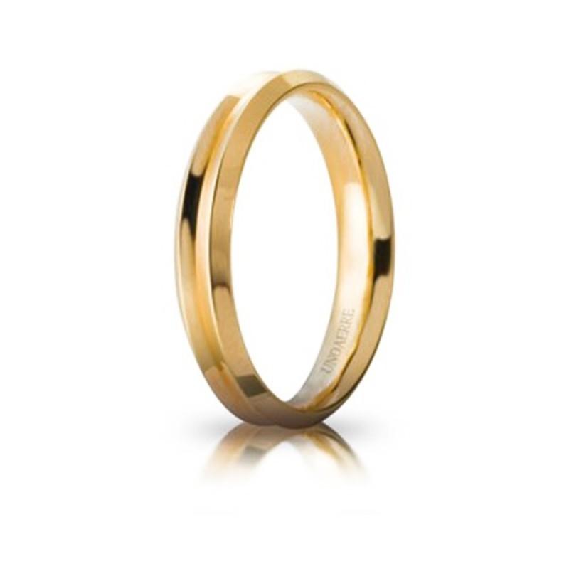 Fede Unoaerre in oro modello Corona lucida larghezza fascia 4 mm unisex