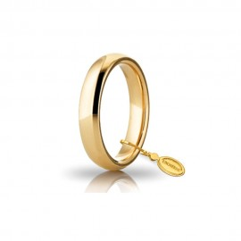 Gold 18 Kt 750/1000 unoaerre shiny classic wedding ring