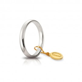 Gold 18 Kt 750/1000 unoaerre classic wedding unisex ring