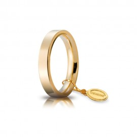Gold 18 Kt 750/1000 unoaerre shiny wedding ring