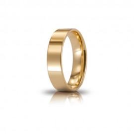 Fede Unoaerre in oro modello Cerchio di luce lucida 50AFC111 larghezza fascia 5mm unisex