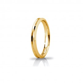 Yellow gold 18 Kt 750/1000 Unoaerre Corona shiny unisex wedding ring