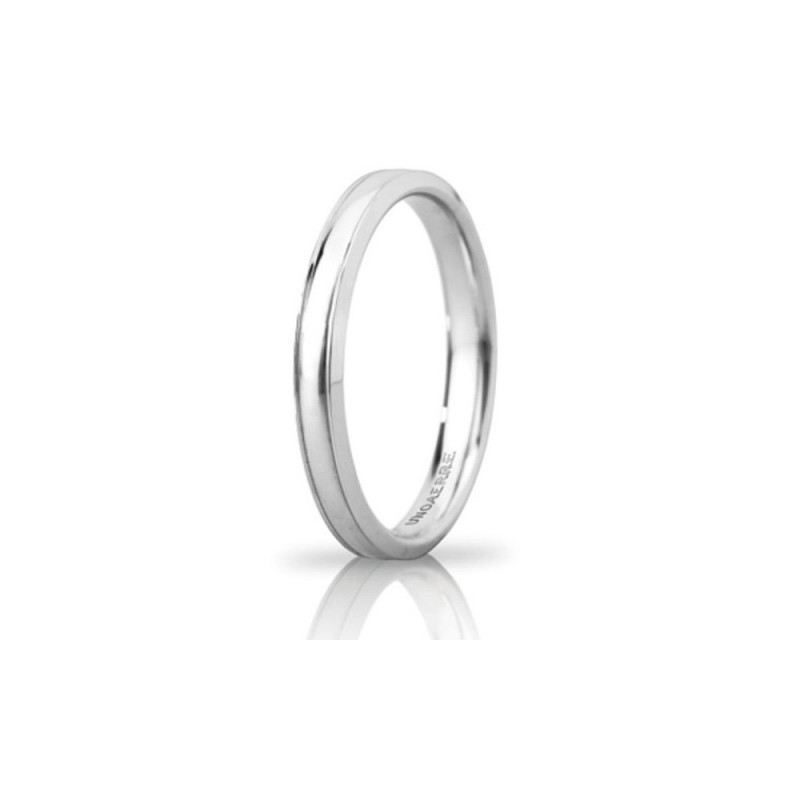 White gold 18 Kt 750/1000 Unoaerre Orion unisex wedding ring