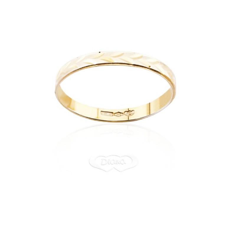 Fedina lucida e satinata, in oro FD188L2OB larghezza cm0,28