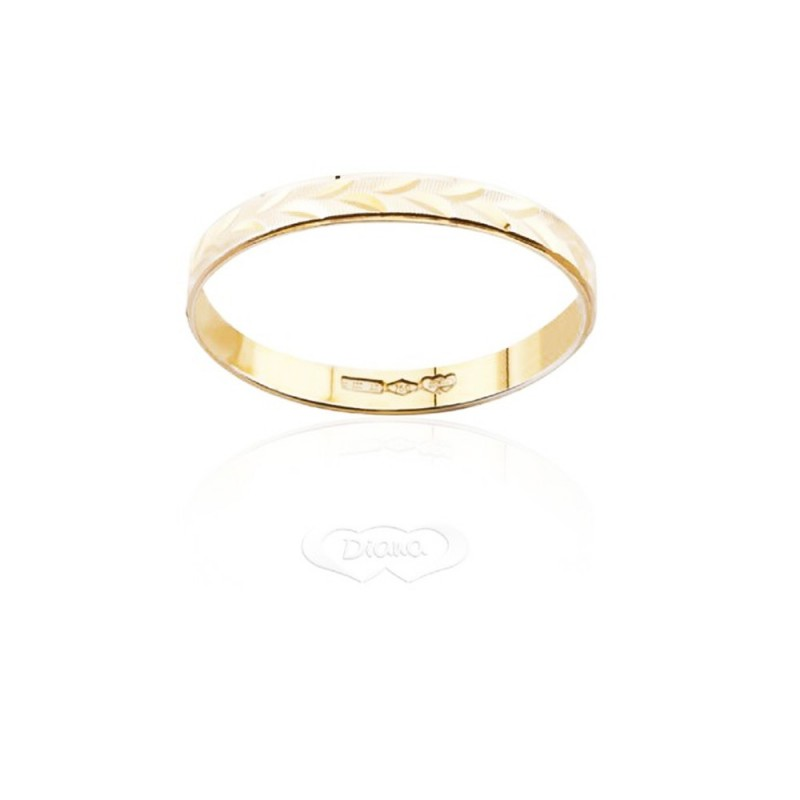 Gold 18 Kt 750/1000 Diana unisex engagement ring