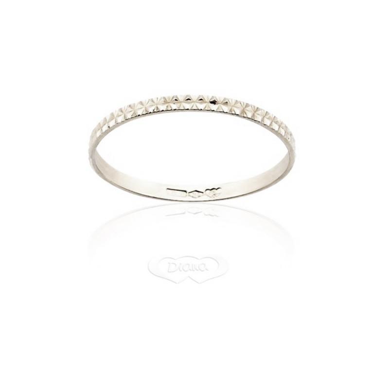 Gold 18 Kt 750/1000 Diana unisex engagement ring