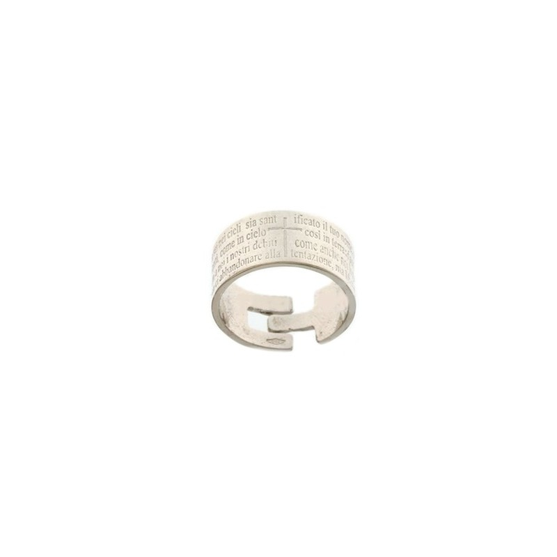 White gold 18Kt 750/1000 with Pater Noster unisex ring