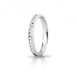 White gold 18 Kt 750/1000 venere with diamonds wedding ring