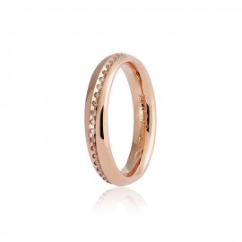Gold 18 K Unoaerre Infinity wedding ring