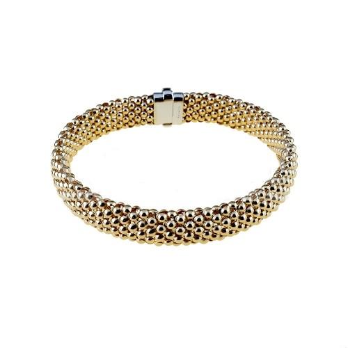 Yellow gold 18Kt 750/1000 tridimensional chain woman bracelet