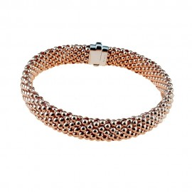 Rose gold 18Kt 750/1000 tridimensional chain woman bracelet