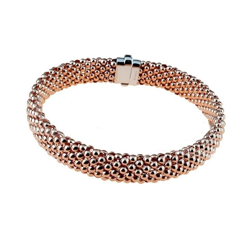 Rose gold 18Kt 750/1000 tridimensional chain woman bracelet