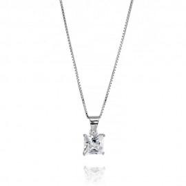 Collana in argento 925 con zircone modello punto luce da donna