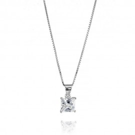 Sterling silver 925 with cubic zirconia woman necklace