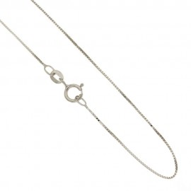 White gold 18Kt 750/1000 venetian chain unisex necklace