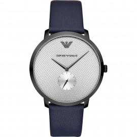 Emporio Armani Automatic Stainless Steel and Blue Strap Watch for Men AR11214