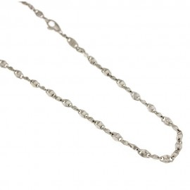 White gold 18k 750/1000 rhombus type necklace