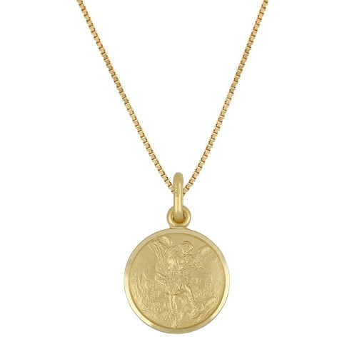 Yellow gold 18k 750/1000 with San Michele pendant necklace
