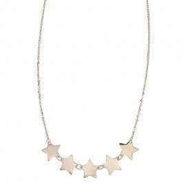 Collana in Oro bianco 18Kt 750/1000 con 5 stelle