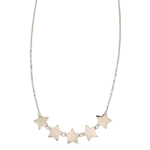 White gold 18Kt 750/1000 with 5 stars woman necklace