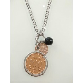 925 Sterling Silver And Bronze Brosway Woman Necklace