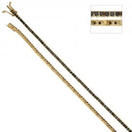 Bracciale Tennis in oro giallo 18 Kt 750/1000 con zirconi neri unisex