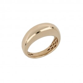 Gold 18 K 750/1000 curved shiny women ring