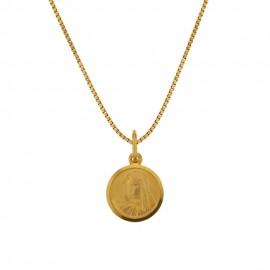 Collana in oro giallo 18 Kt 750/1000 con Madonnina