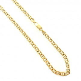 Yellow gold 18k 750/1000 shiny, solid gold men's chain